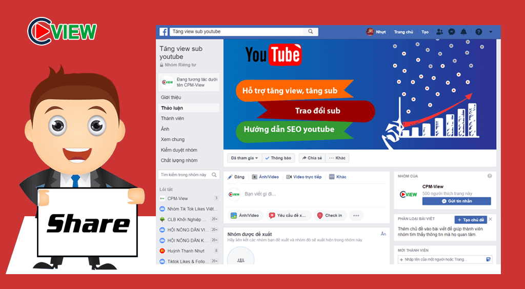 share video youtube trên facebook